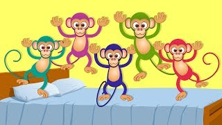 Five Little Monkeys | kids songs | nursery rhymes | kids tv | kids tv songs | 5 lil monkeys