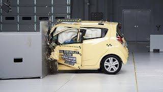 2013 Chevrolet Spark Small Overlap IIHS Crash Test