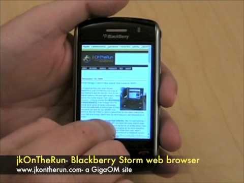 jkOnTheRun- Blackberry Storm web browser