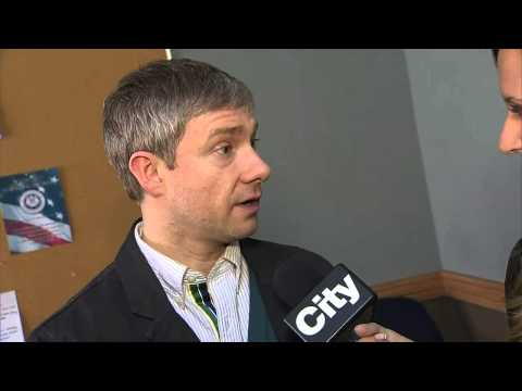 Raw video: Martin Freeman discusses role in 'Fargo'