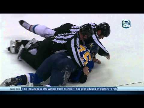 Ryan Reaves vs Cody McLeod fight Colorado Avalanche vs St. Louis Blues 11/14/13 NHL Hockey.