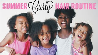 Curly Hair Routine | 4 Different Natural Hair Types