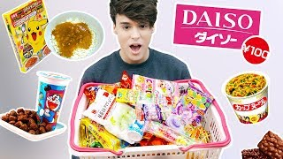 i only ate JAPANESE DOLLAR STORE foods for a day !!!