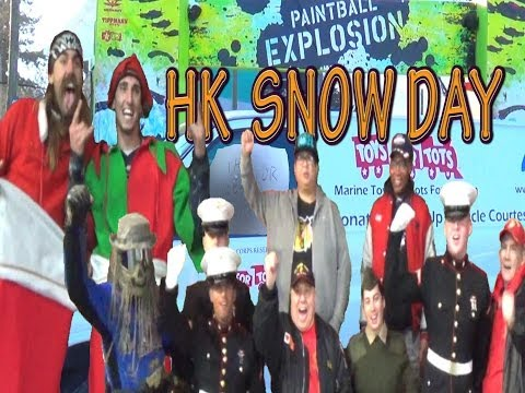 HK Snow Day!!! HK Army Streetball & Christmas Explosion @ Paintball Explosion