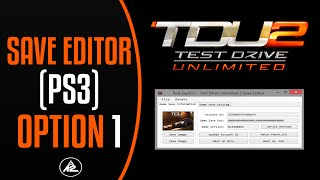 Test Drive Unlimited 2 Save Editor (PS3) Option 1