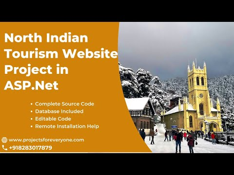 North India Tourism Website Project (Travel Tour Booking Website) - ASP.Net with Sql Server