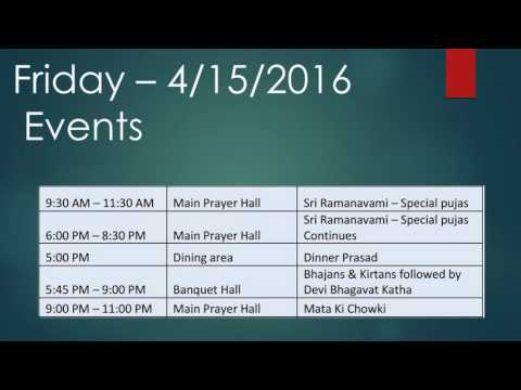 Katha - Daily Schedule from April 9-14th, 2016
