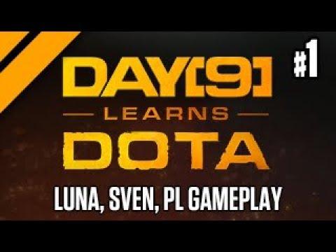 Day[9] Learns Dota - Hard Carry - Phantom Lancer, Luna, & Sven P1