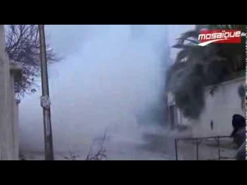 image vidéo عاجل: مواجهات بين الأمن و سلفيين بالجبل الأحمر