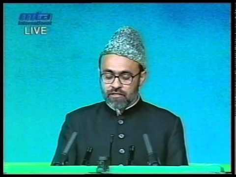 Tilawat, Nazm and Report about Wakalat Isha'at by Naseer Ahmad Qamar at Jalsa UK 2002
