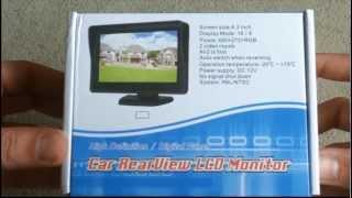 Unboxing 4,3 TFT LCD Auto Kfz Pkw Monitor Bildschirm DVD