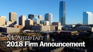 McAfee & Taft's 2018 Firm Announcement