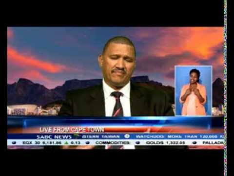 Marius Fransman talks about property damage from a wild rampage by looters.