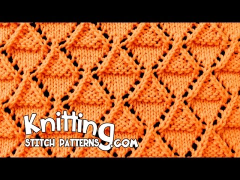 Stockinette and Garter Diamonds | Lace Knitting #18