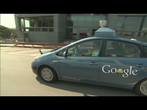 """CNN test-drives Googles """"self-driving car"""""""