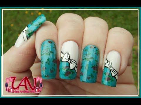 Passo a passo de Tatuagem de unhas com Laço - Unhas Artísticas Nill