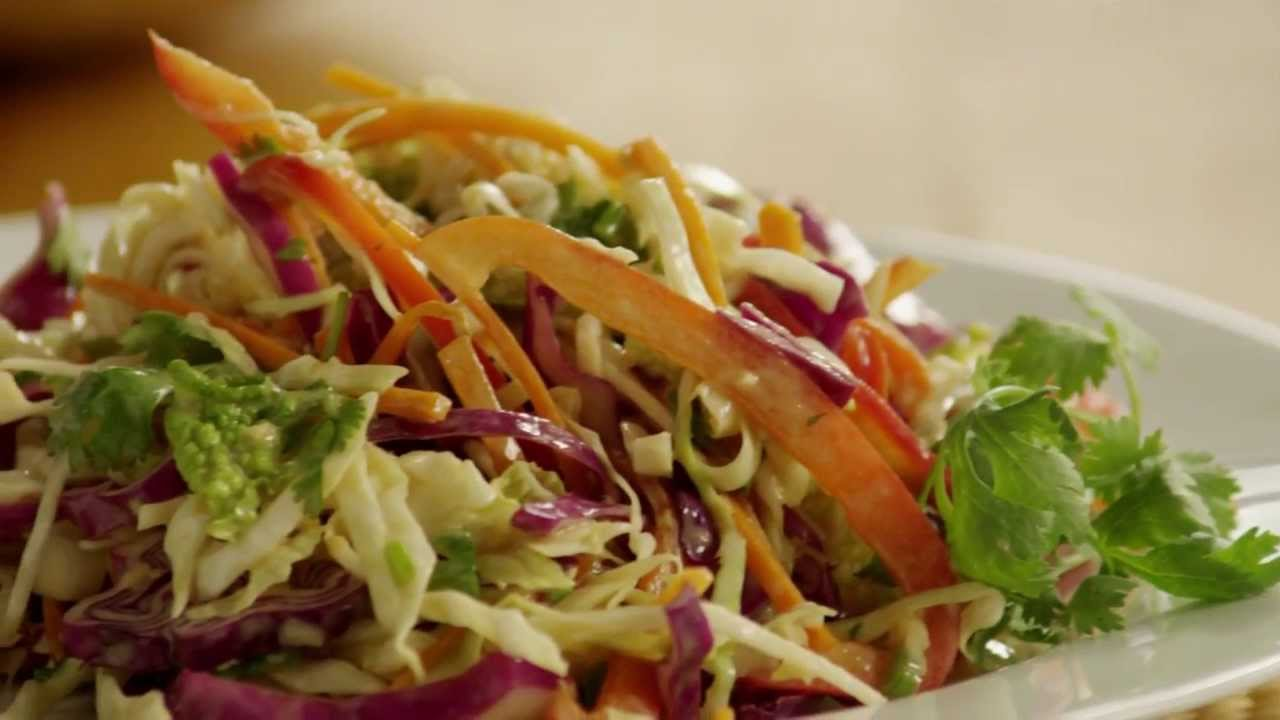 Salad Recipes - How to Make Asian-Style Coleslaw - YouTube