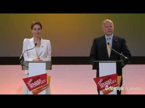 Angelina Jolie and William Hague unite to help end sexual violence at summit