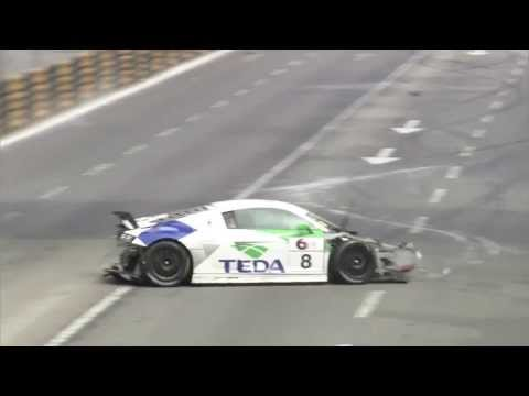 Alex Yoong Massive Crash @ 2013 Audi R8 LMS Cup Macau Qualifying