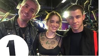 """You can ride a dragon honey!"" Emilia Clarke promises Nick Jonas a role in Game Of Thrones"