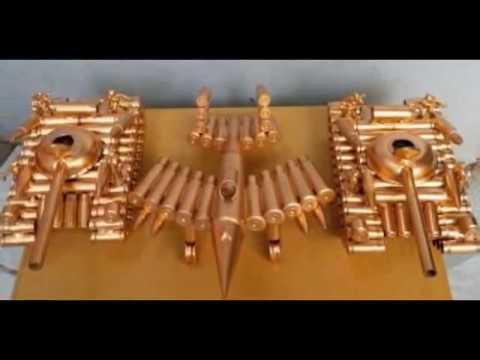 Quà tặng độc đáo   Đồ lưu niệm    Bán mô hình máy bay quân sự bằng vỏ đạn