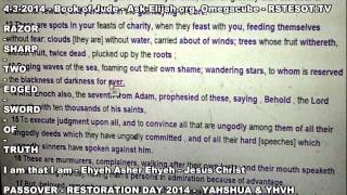Passover 4 3 2014   Jude   Ask Elijah   Omegacube   RSTESOT TV