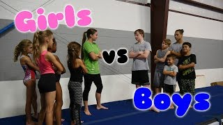 Boys VS Girls Gymnastics Challenge| Rachel Marie