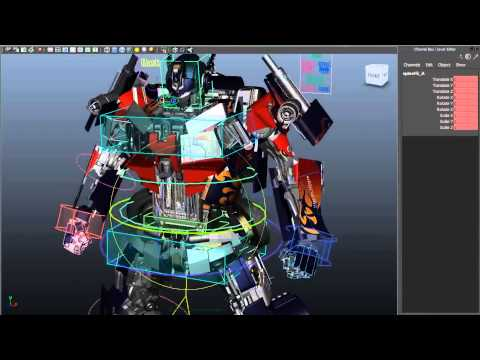 Rigging and 3D Modeling Demo Reel by Eske Yoshinob - Optimus Prime from Transformers