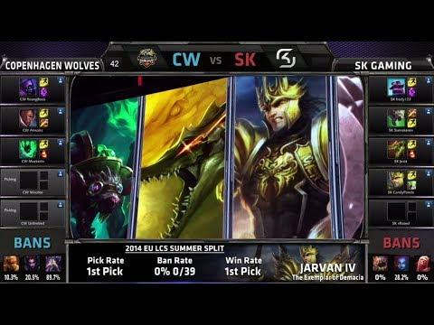 Copenhagen Wolves vs SK Gaming  | S4 EU LCS Summer 2014 Week 4 Day 2 | CW vs SK W4D2 G4