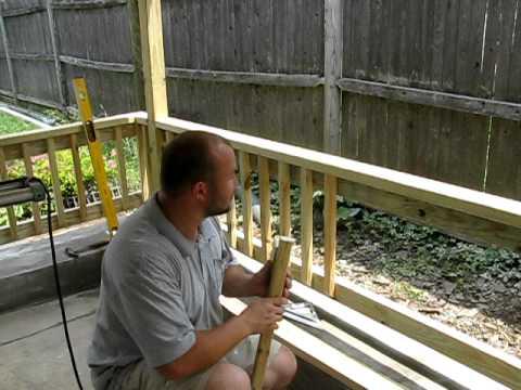 budowanie poreczy i zakonczenie budowy werandy