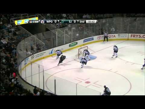 Winnipeg Jets vs San Jose Sharks (23.01.2014)