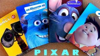 Pixar Blu Ray Steelbooks Up, Monsters Inc, Wall-E And