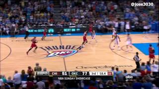 Russell Westbrook Poster Dunk On Omer Asik Bulls