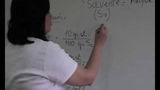 Soluciones químicas. Segunda parte