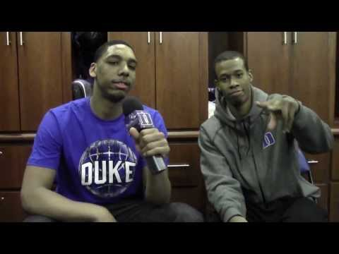 Jahlil Okafor Interviews Rodney Hood after Duke/UNC 2014