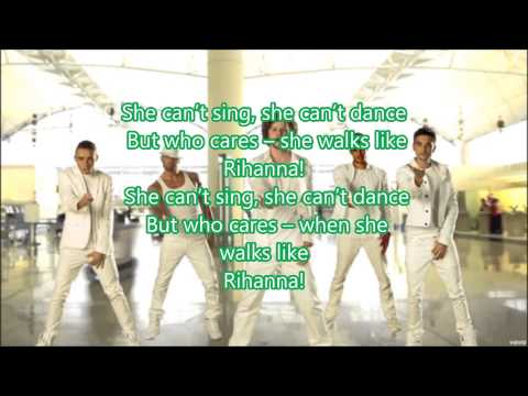 The Wanted Walks Like Rihanna (Lyrics)