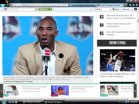 Kobe Bryant Couldn't Care Less About Trayvon Martin