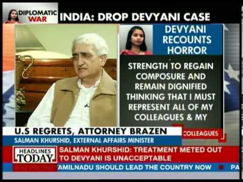 Salman Khurshid talks about the conspiracy