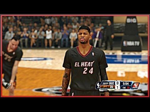 NBA 2K14 Next Gen MyTEAM - Emerald Paul George Making Dudes Quit In The 1st Quarter !