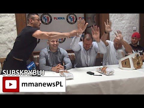 PLMMA 74: Bijatyka Najman vs Trybson na konferencji prasowej w Toruniu (+video)