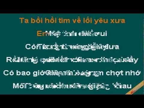 Hay Ve Voi Anh Karaoke - Quang Dũng - CaoCuongPro