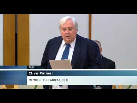 Clive Palmer speaks on Qantas in the Federation Chamber March 19th 2014
