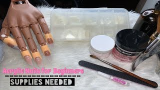 Acrylic Nails Tutorial For Beginners | Full Set | Materials Needed for A Full Set
