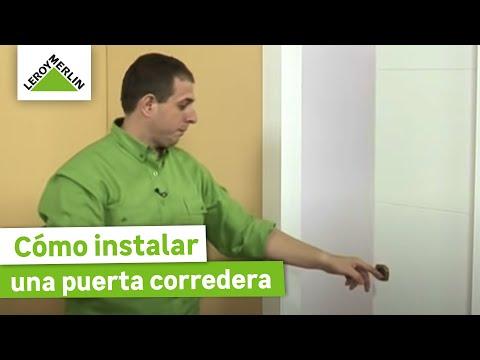 instalar una puerta corredera encastrable leroy merlin. Black Bedroom Furniture Sets. Home Design Ideas