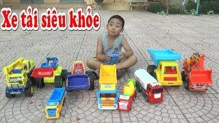 Xe tải đồ chơi siêu khỏe , excavators, trucks, dump trucks, Kênh Em Bé 🚖