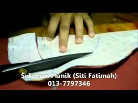 Sulaman Manik - Gadjet Tapak Piping (Jahit Piping Leher Part 1).flv
