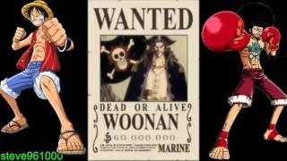 One Piece Tutte Le Taglie HD