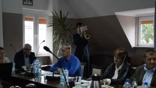 Hejnał Węgorzewa, nowo wybrany w drodze konkursu, podczas sesji Rady Miejskiej w Węgorzewie 26 lipca o