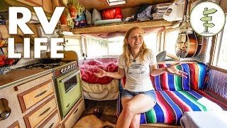 Minimalist Couple Living in a Tiny Camper Trailer That Cost Only $1,800 - RV Life