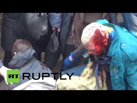 Ukraine brutal video: Clashes between pro- and anti-govt activists in Kharkov